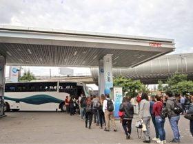 Foto de buses municipales de puente alto