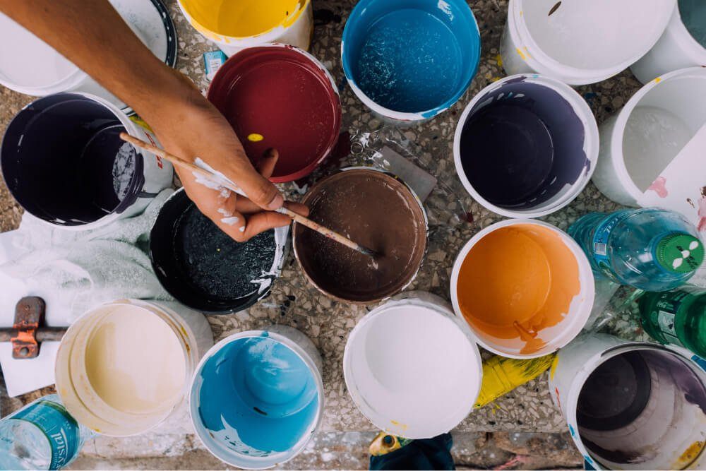 Foto de personas pintando, Puente Alto