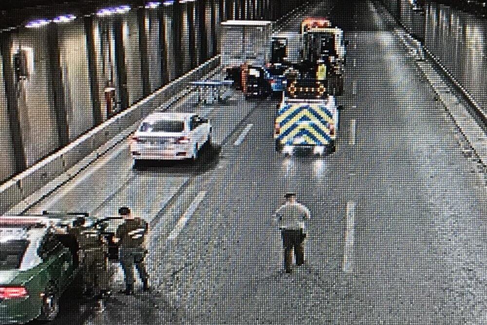 Foto interior de un tunel