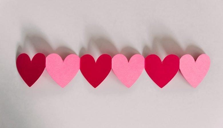 Foto de corazones de colores