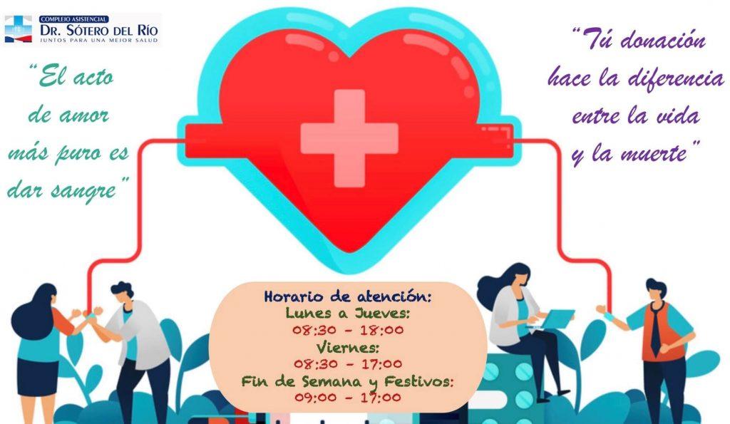 Donación de sangre Hospital Sótero del Rio