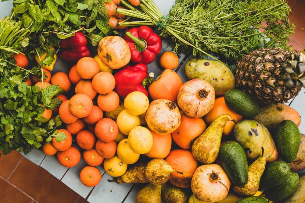Foto de frutas y verduras