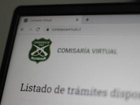 Foto de pagina web de la comisaria virtual
