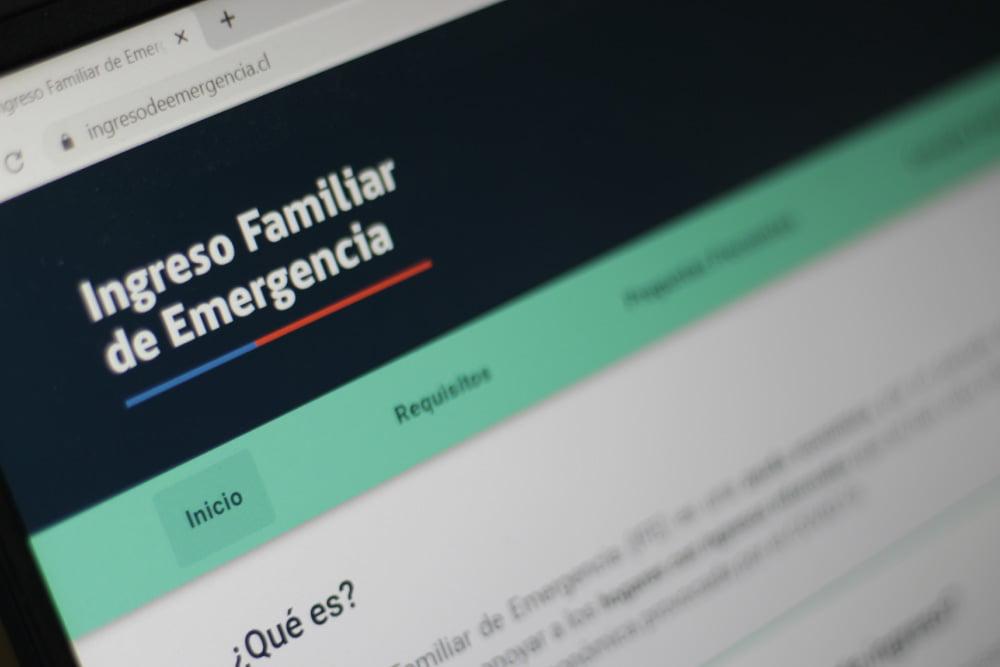 Foto página ingreso familiar de emergencia - puente alto