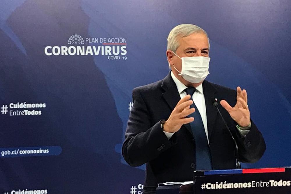 Ministro Jaime Mañalich en nuevo balance diario de MINSAL