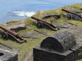 Foto de cañones museo en el dia del patrimonio virtual